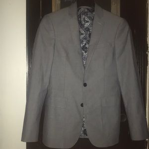 Express blazer with paisley lining